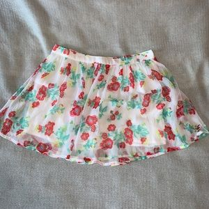 Hollister flower skirt